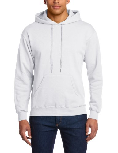 Fruit of the Loom Herren Sweatshirt 12208B, Gr. 44/46 (S), Weiß (30 weiss) (Sweatshirt Hoody College)