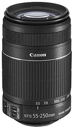 Canon EF-S 55-250mm f/4-5.6 IS II - Objetivo para Canon (distancia focal 55-250mm, apertura f/4-32, zoom óptico 4.5x,estabilizador óptico, diámetro: 58mm) negro