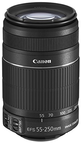 Canon EF-S 55-250mm f/4-5.6 IS II Teleobiettivo con Zoom, colore: Nero