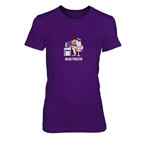 Online Predator - Damen T-Shirt, Größe: XL, Farbe: lila