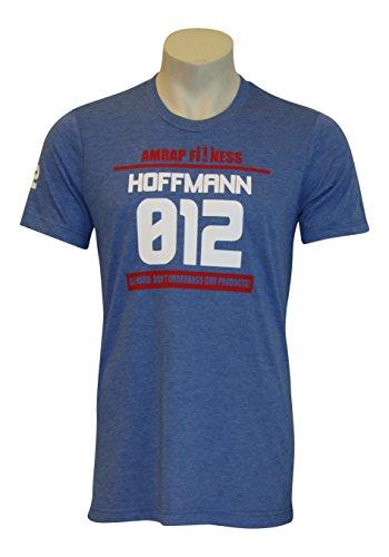 AMRAP Athlete Shirt - Individuell für dein CrossFit - WOD hergestellt, Slim-Fit aus Tri-Blend Material für Herren (Hellblau, M)