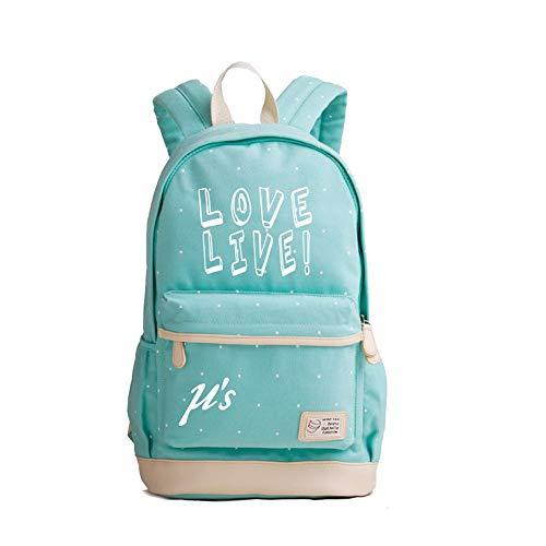 Love Live Anime Luminous Noctilucent Wave Point Casual Rucksack Schultasche Laptop Rucksack Daypack Satchel Knapsack College Bag Book Bag Bag