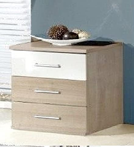 Germanica™ BREMEN Matching Chest Of Drawers In a Choice of 3 Colours and 3 Sizes (Washed Oak & White Bedsides)
