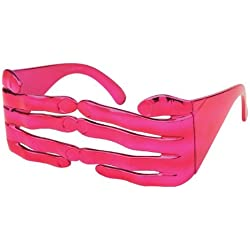 Alsino Sonnenbrille Funbrille Spaß Brille Finger glänzend pink 32