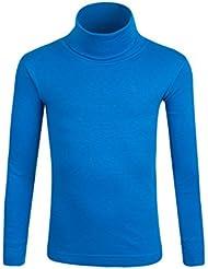 Mountain Warehouse sous Pull T-Shirt enfant Col Roulé Uni Manches Longues Basique Fille Mixte Coton Absorbant Respirant Automne Hiver