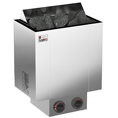 SAWO NORDEX 2017 Elektrische Saunaofen, Leistungsbereich: 4,5 kW; 6,0 kW; 8,0 kW; 9,0 kW; mit integrierte Steuerung (NB-Modell); Multispannung: entweder Einphasig oder 3-Phasig;