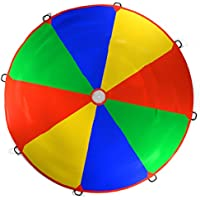 Kenley 3.5m 12ft Play Parachute Rainbow Toy Game for Kids Children – Outdoor Indoor Garden Party Sports Activities Group Exercise
