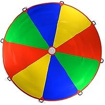 Kenley 3.5m Juego De Paracaídas de Color para Niños - Arco Iris Juegos Actividades Deportivas Fiestas Ejercicios en Grupo Al Aire Libre