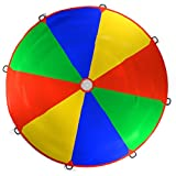 Kenley 3.5m 12ft Play Parachute Rainbow Toy Game for Kids Children – Outdoor Indoor Garden Party Sports Activities Group Exercise - Kenley - amazon.co.uk