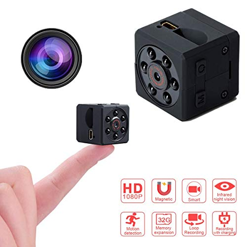 ASuii Mini Camera Espion, Mini Wireless Hidden Camera, Portable Miniature 1080 HD avec Vision Nocturne/Détection de Mouvement Caméra de Surveillance Intérieure/babyphone/Extérieure/Sport DV