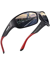 ad6cf85696 Polarised Sports Sunglasses for Men Women Running Cycling Fishing Driving  Golf Tr 90 Unbreakable Frame