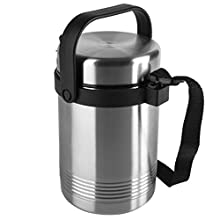 Emsa 504207 Senator Thermo Lunch insulated food flask, 1.4 litres, stainless steel