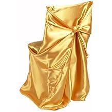 Linentablecloth satin universale della sedia oro