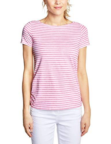 Cecil Damen 313336 Abbi T-Shirt, neo Coralline red, Large -
