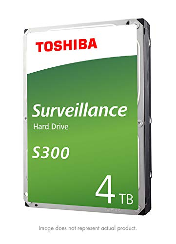 Toshiba HDWT140UZSVAR 4TB Surveillance 3.5Zoll Interne Festplatte - SATA 6 Gb/s 5400 RPM 128MB Cache