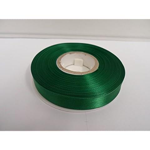 2 metri di 15 millimetri nastro di raso, smeraldo, verde scuro, doppia faccia, bomboniere, decorative, Pasqua, Natale, artigianato 15mm 15 mm