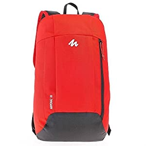 Quechua Nylon 10 Ltr Red Travel Backpack Best Online Shopping Store