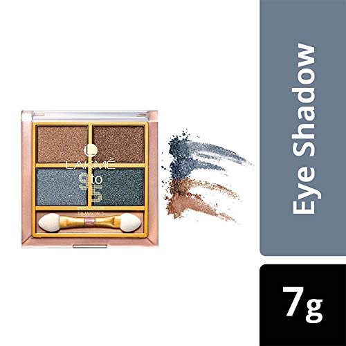 Lakme 9 to 5 Eye Color Quartet Eye Shadow, Smokey Glam, 7 g