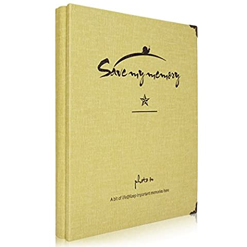 Woodmin 50 Seiten A4 Weiße Karte DIY Fotoalbum / Ticket Stub Buch / Empfangsalbum / Briefmarke Einsteckbuch (Zitronengelb)
