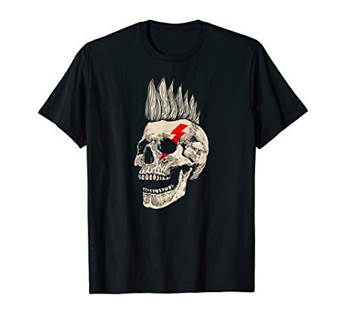 Punk Rock Skull T-Shirt Punks Not Dead Mohawk Style Tee Gift (Kinder Für Punk-rock)