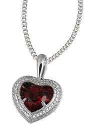 Goldmaid - Fa C4964S - Collier avec Pendentif Femme - Argent fin 925/1000 - Grenat - Diamant 0.1 ct