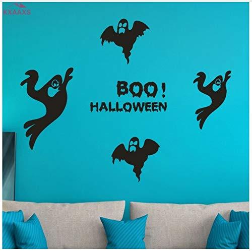 HAJKSDS Flying Bat Hexe Wandaufkleber Happy Halloween Day Süßes Oder Saures Fenster Dekoration Festival Wandtattoos Poster 90X70Cm