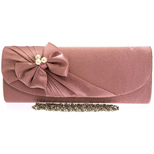 womens-pink-bella-pearl-satin-clutch-evening-bag-with-chain