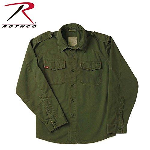 Rothco Herren Freizeit-Hemd Small grün - olivgrün - Rothco Grün