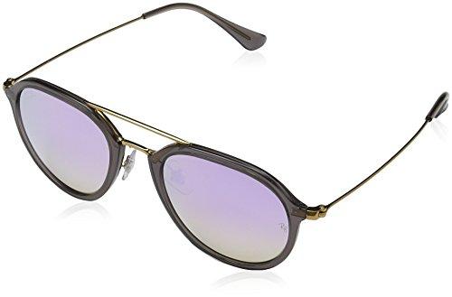 Rayban Unisex-Erwachsene Sonnenbrille RB4253 Mehrfarbig (Gestell: grau,Gläser: lila-verlauf 62377X)), Medium (Herstellergröße: 53)