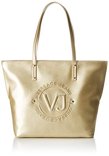 Versace Jeans Couture Damen Bag Schultertasche, Gold (Oro), 14x29x42 centimeters - Versace Leder Schulter Tasche