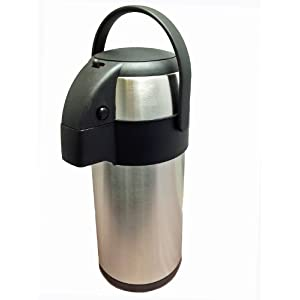 41RrA3iR3kL. SS300  - New 3.0 litre stainless steel pump action airpot/flask - Ideal for keeping fluids hot for many hours. by Nextday…