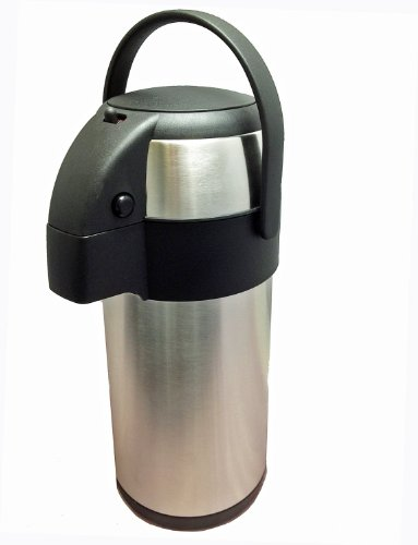 41RrA3iR3kL - New 3.0 litre stainless steel pump action airpot/flask - Ideal for keeping fluids hot for many hours. by Nextday Catering Supplies
