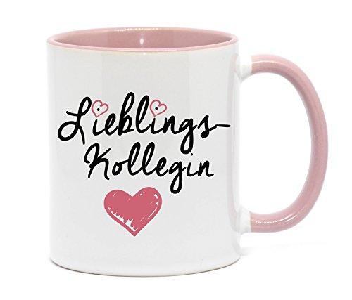 'Lieblingskollegin' Tasse in hochwertiger Qualität, beidseitig bedruckt. Für die beste Kollegin in...