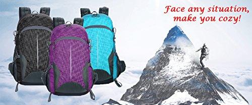 facecozy Outdoor Herren & Frauen Sport Rucksack Leicht Wasserdicht Camping & Wandern Tasche groß Kapazität atmungsaktiv Farbe Rucksack Violett