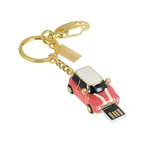 Hunpta 1/ 2/ 4/ 8/ 16/ 32/64/128 GB Oldtimer USB 2.0 Flash genug Speicher Stick U Speicherplatte (Rosa, 1GB) -