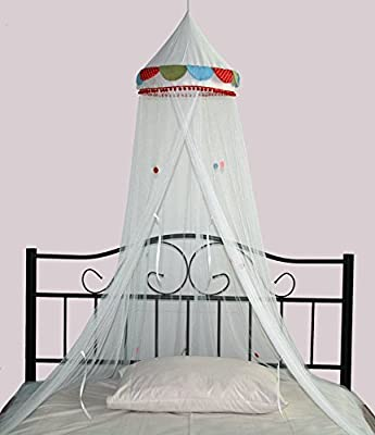 Princess Bed Canopy - Pretty Carousel Childrens Bed Canopy - Quick and Easy To Hang Girls Bedroom Accessories - Perfect Gift for Girls, Daughters and Granddaughters