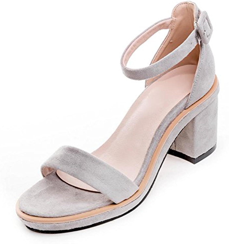 Sandalias Gruesas con la Palabra Hembra de Verano con Tacón Alto para Mujer, Gris Claro, US6/EU36/UK4/CN36