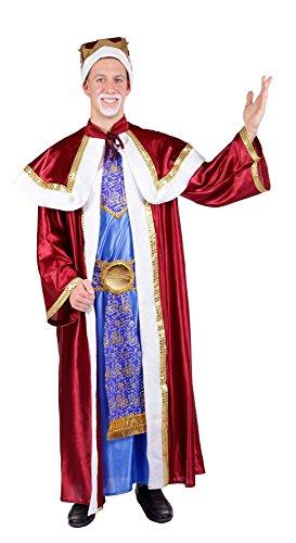 Hochwertige Heilige drei Könige Kostüm Melchior Rot - Sehr schön für Krippenspiel, Theater und (Geburt König Kostüme)