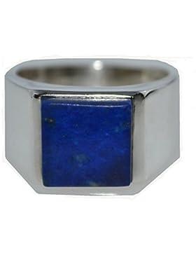 Herren Sterling 925Silber Lapislazuli blau Gents Ring Größen M bis Z + 5