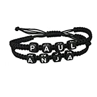 DIY Armband Partnerarmband Familienarmband mit 2-4 Wunschnamen *verschiedene Farben*