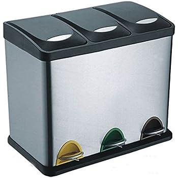 klarstein kosystem 3 m lleimer tret abfalleimer recycling eimer m lltrenner 45 liter. Black Bedroom Furniture Sets. Home Design Ideas