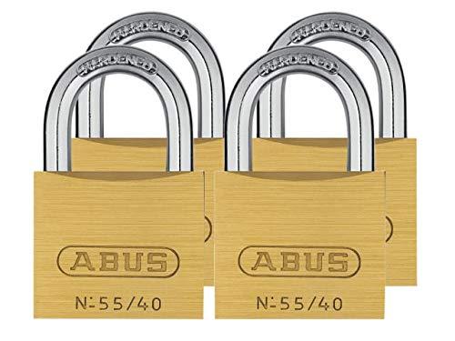 ABUS Messing Vorhängeschloss 55/40Quads Set 4Stück, 33694