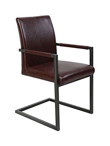 Stuhl Maridi 134, Farbe: Braun - Abmessungen: 91 x 52 x 55 cm (H x B x T)
