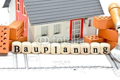 """Alu-Dibond-Bild 140 x 90 cm: """"Bauplanung"""", Bild auf Alu-Dibond"""