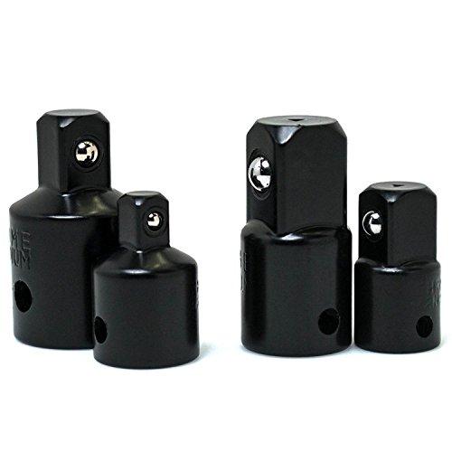 Cikuso 4 Stueck Impact Adapter und Reducer Set fuer den Einsatz mit Schlagschrauber und Bohrer in Auto und Bau Arbeit einstellen Adapter