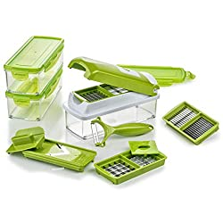 Genius Nicer Dicer Smart | 14 Teile | Gemüseschneider | Obstschneider | Zwiebelschneider | Pommesschneider | Kartoffelschneider