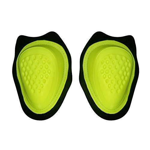 BIESSE - Coppia di Saponette SLIDER colorate per ginocchia tuta da moto, uso pista, vari colori (Giallo Fluo)