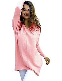 Amlaiworld Sweatshirts Winter Lang bunt Pulli Damen warm Shirt Stricken  locker Bluse Mode Pullover M  8ff392787f