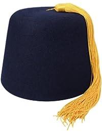 Chapeau Fez bleu marine avec Houppe dorée VILLAGE HATS