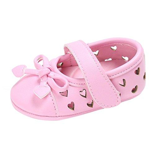 BZLine® Baby Kleinkind kinder kleinkind mädchen Leder newborn Schuhe Sneakers Pink